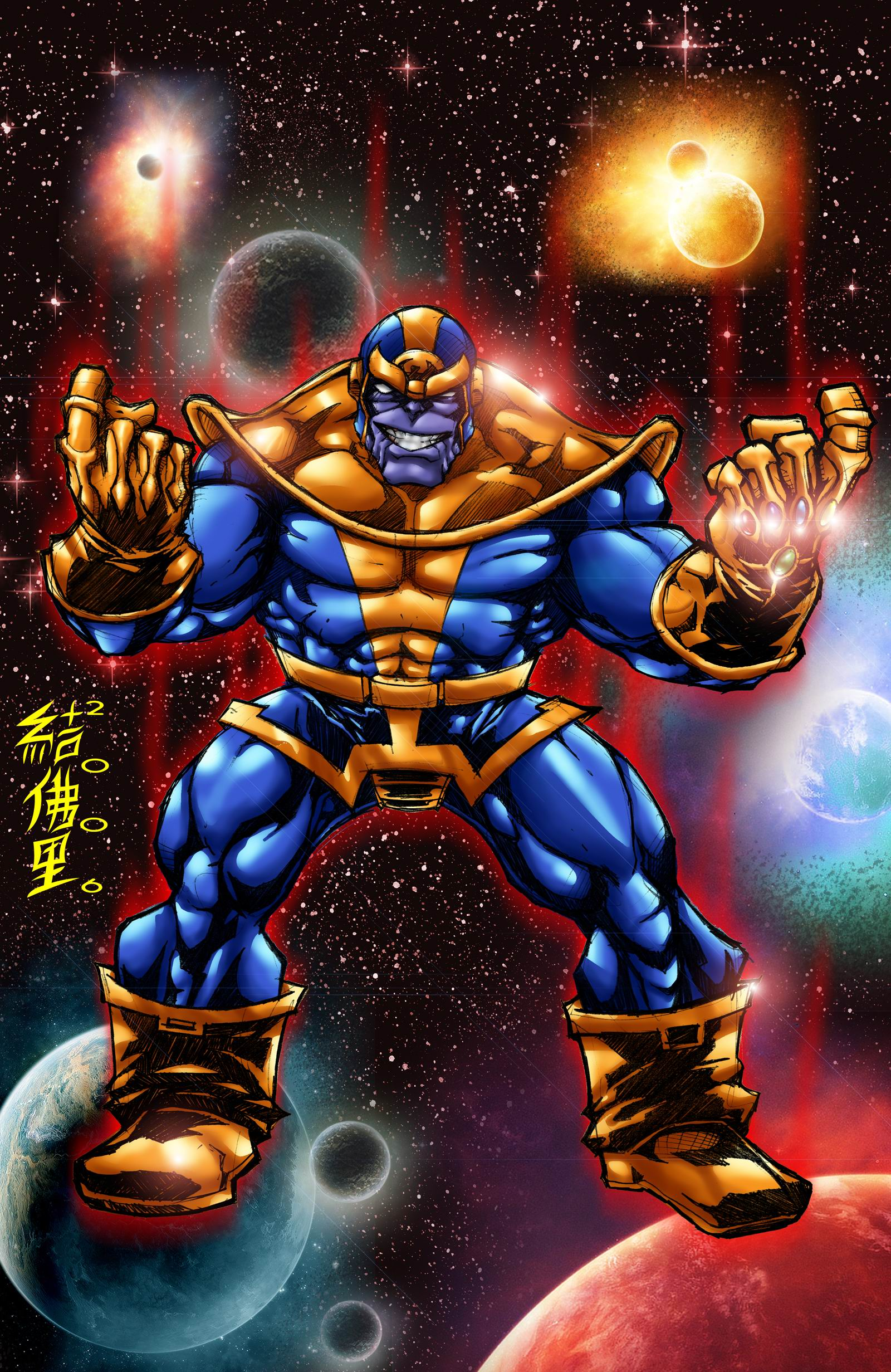 THANOS with INFINITY GAUNTLET by WOLVERINE76 on DeviantArt