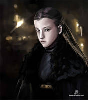The winds of winter - Lady Lyanna Mormont by wolfnocturne