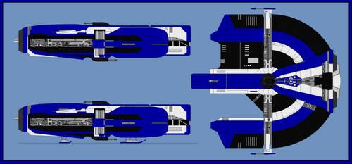 Dynamic Class Freighter (Prodigal) by NakedSnake1862