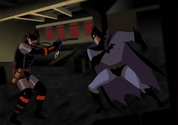 Batman (DCAU) vs. Big Boss (MGS3:SE) by NakedSnake1862