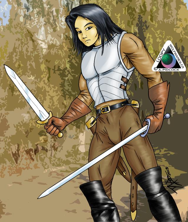 Asian Warrior (DnD) by LoopyWolf