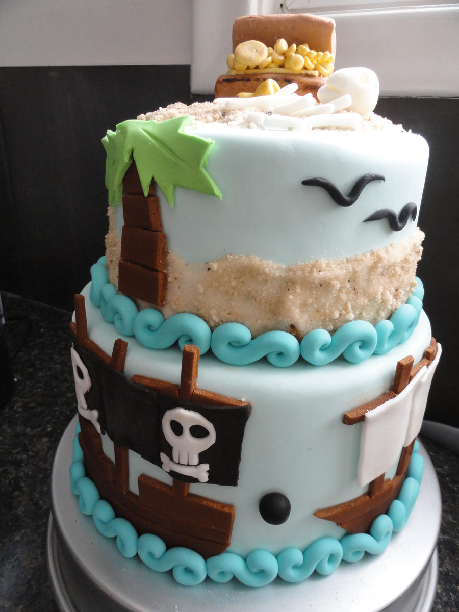 Cake Art By Amy : full view Pirate cake by AmyWaffles on DeviantArt
