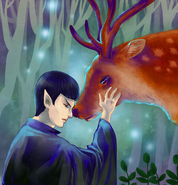 Star trek-Spock and deer by dosruby