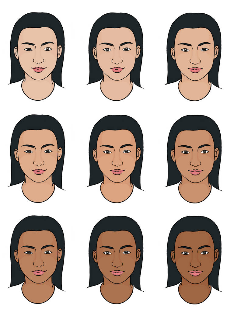 Reference female east asian faces by smallorangefruit