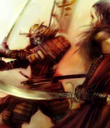 Samurai vs Mongol by jugodenaranjo