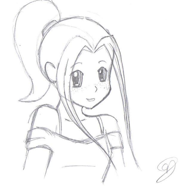 anime girl by vampireselene13