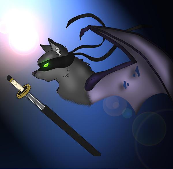 Ninja Kitty Colored by VampireSelene13