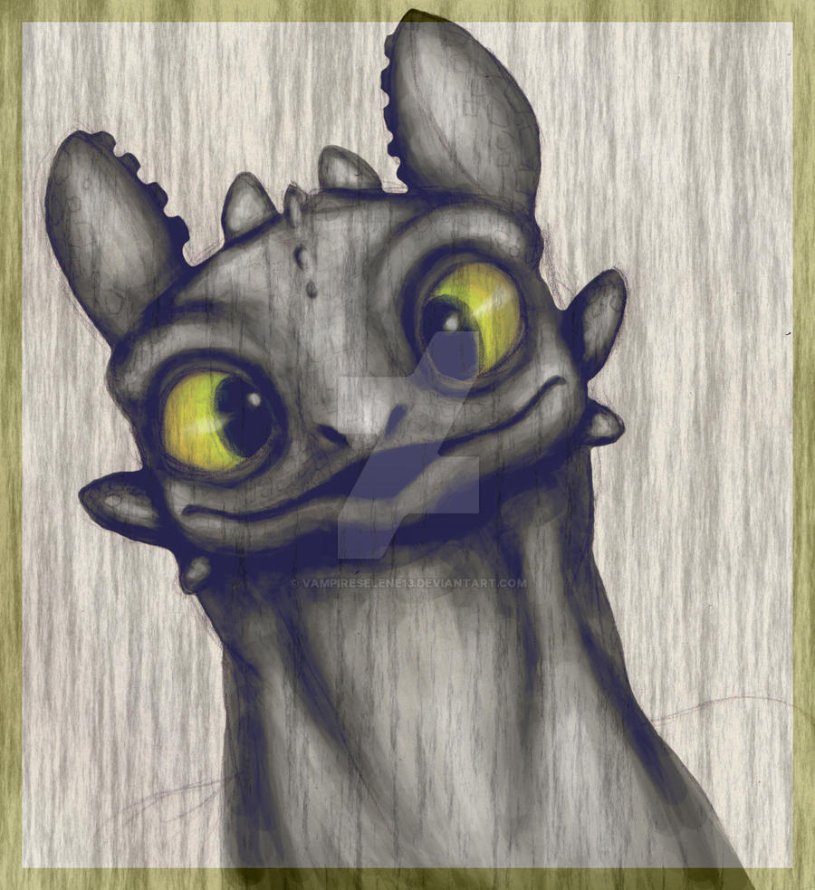 Toothless - Colored by VampireSelene13