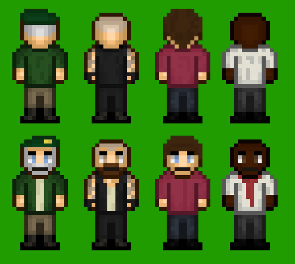 Pixelated Left 4 Dead Characters by WeGameLP on DeviantArt