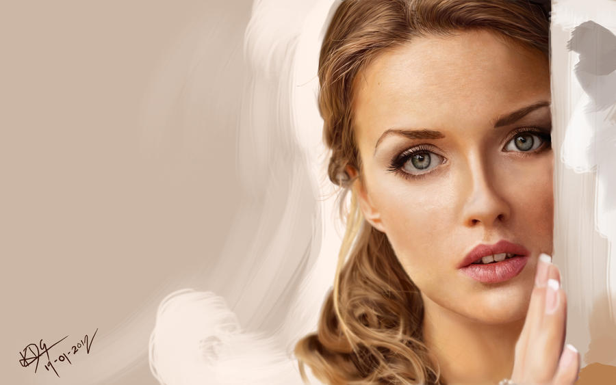 Digital painting (portrait) by dartkds