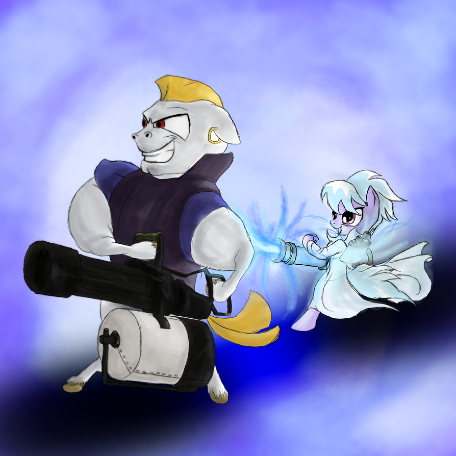 Heavy Roids and Medic Chaser by AaronMk