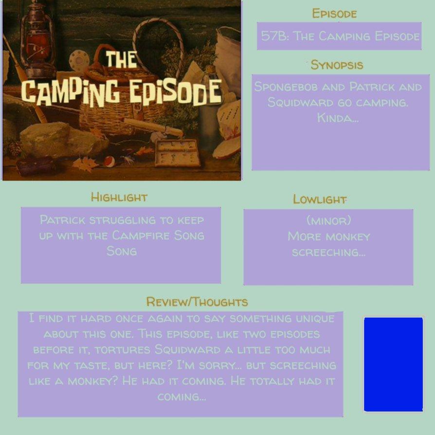 Spongebob Episode 57B (S3 E32) THE CAMPING EPISODE by