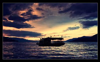 sunset at lake toba 2 by overloadrevenge