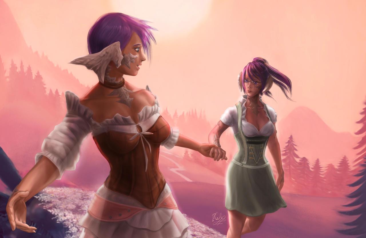 Larien and Shizuru