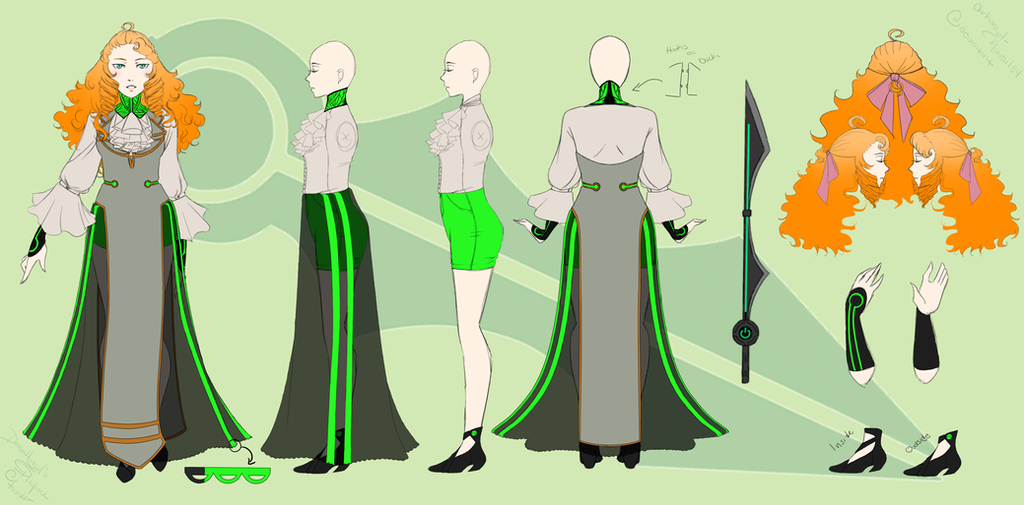 Afterlife RWBY AU Penny Character Sheet by DarkAngel-Kurai134