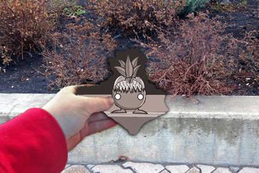 A Creepy Oddish On The Garden Wall by howlingwolf142