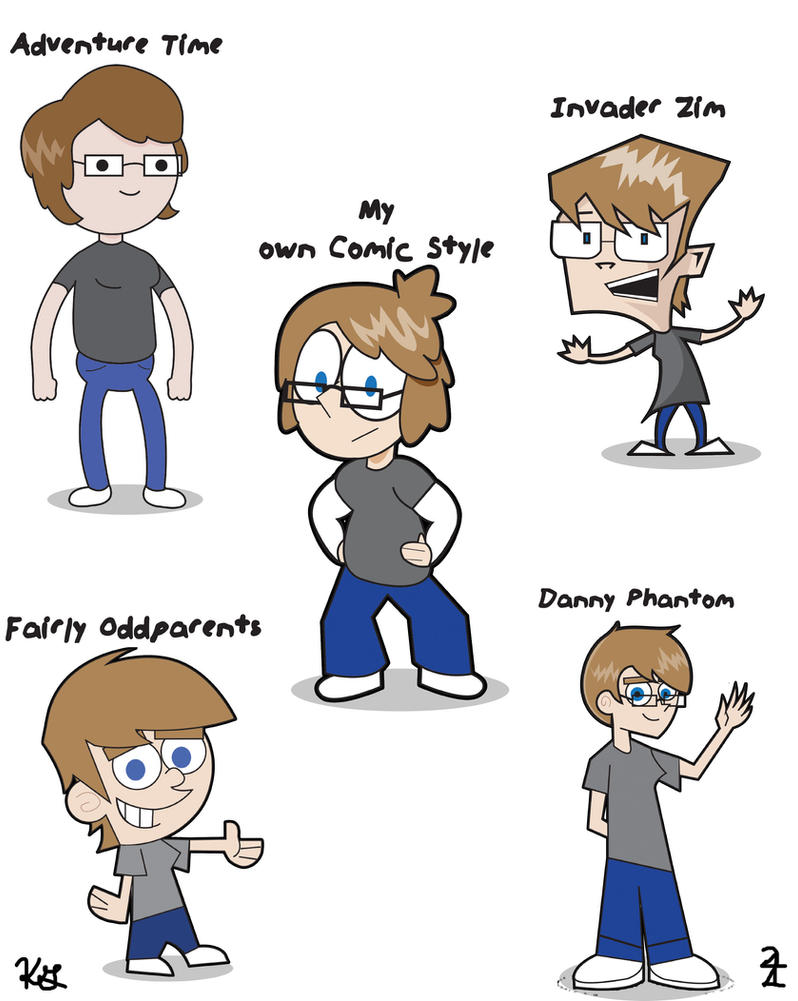 draw yourself in different styles 1 cartoons pt 1 by