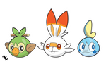 Galar Region Starters (Stickers)