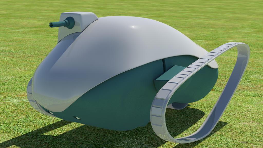 Simple Sci-fi Tank 01 by kasigawa