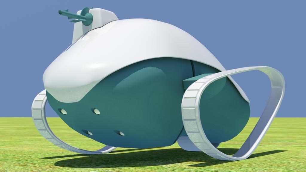 Simple Sci-fi Tank 02 by kasigawa