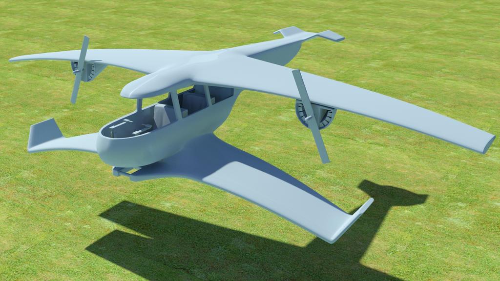 Sci-fi Plane 01 by kasigawa