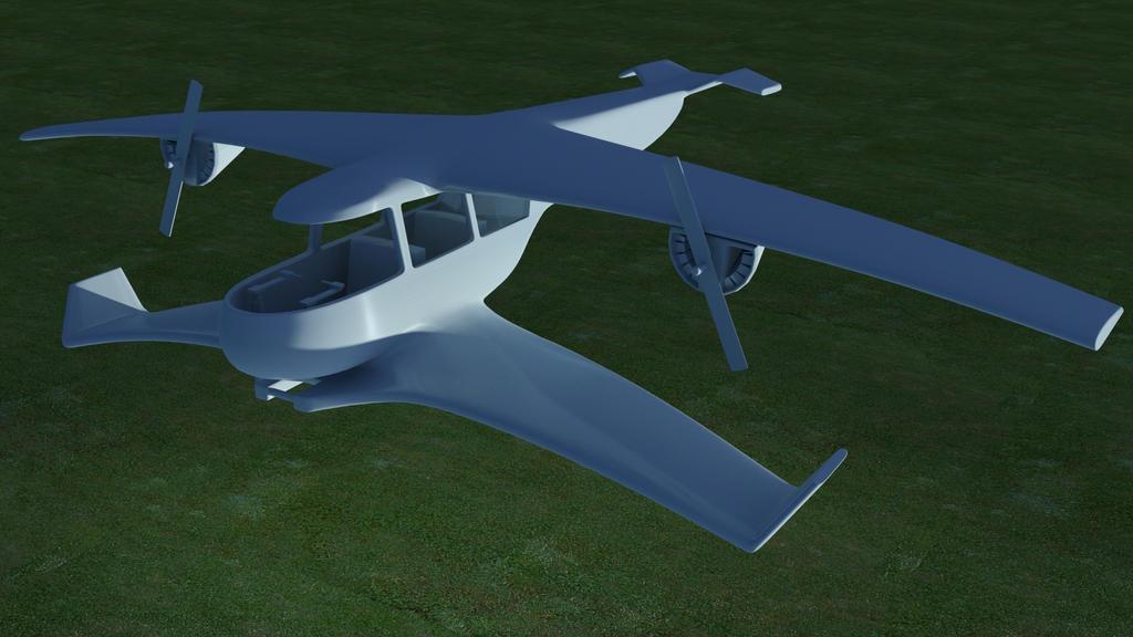 Sci-fi Plane 02 by kasigawa