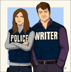 Castle and Beckett by MaegRo