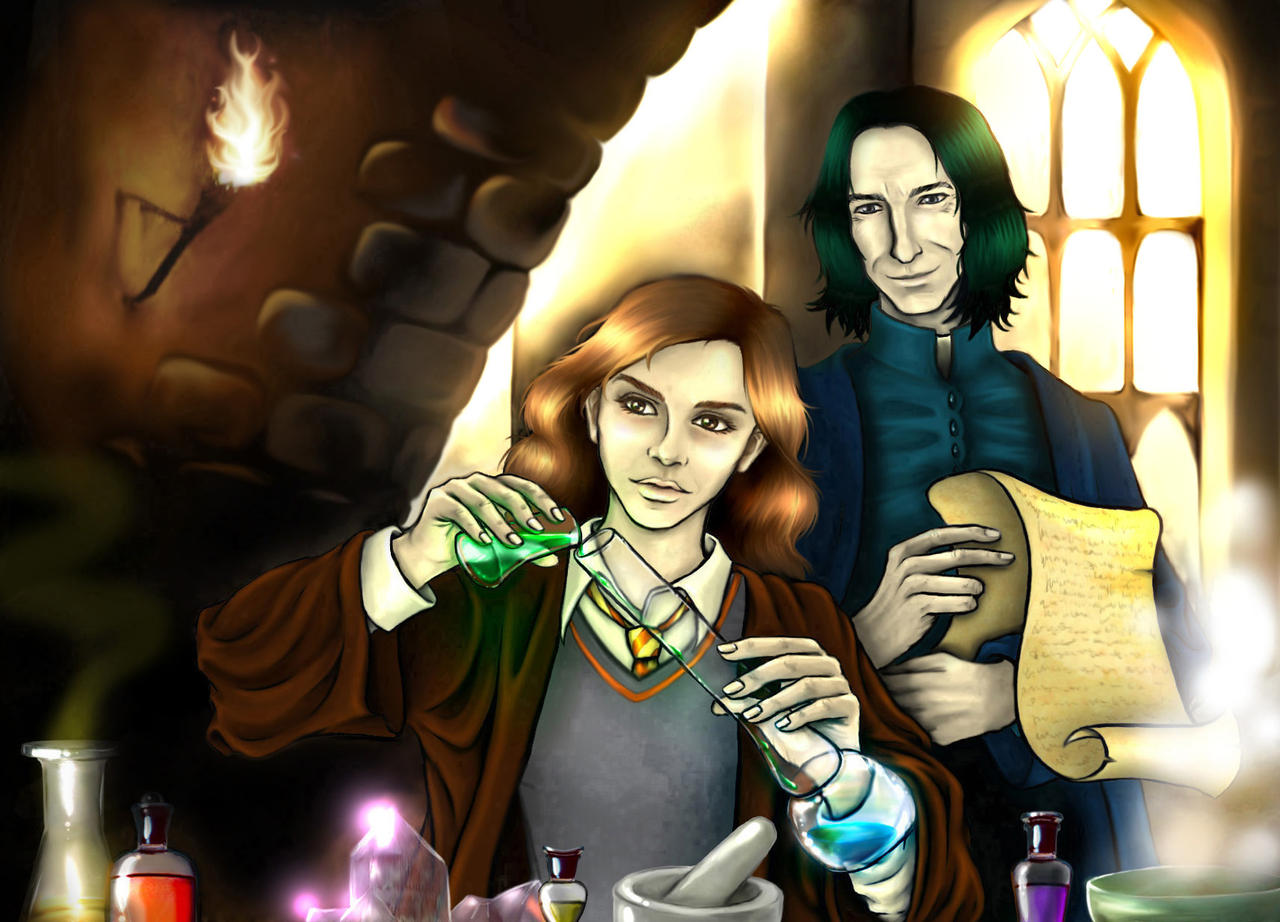 Snape and Granger by Tilya