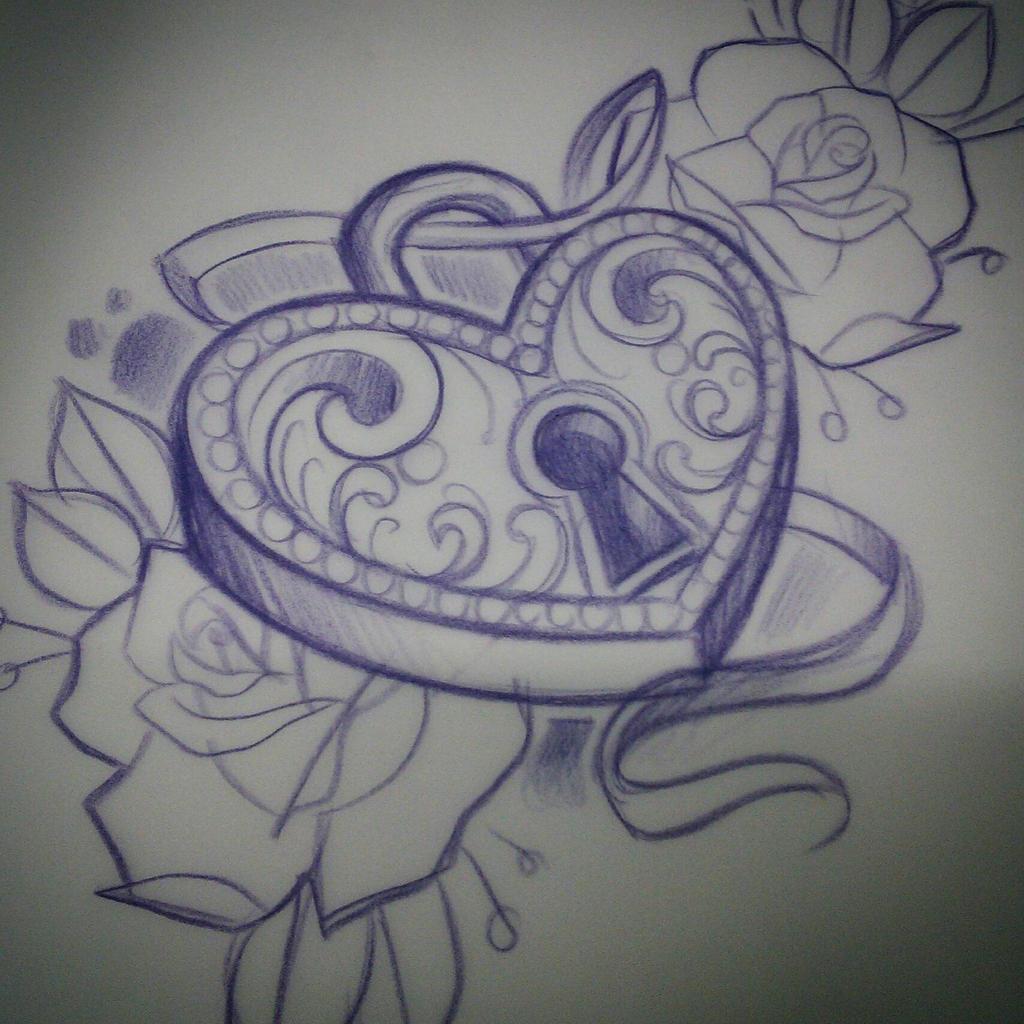 heart locket sketch by ROCK-ALI on DeviantArt
