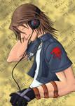 Leon and his headphones by ShadoDoragon