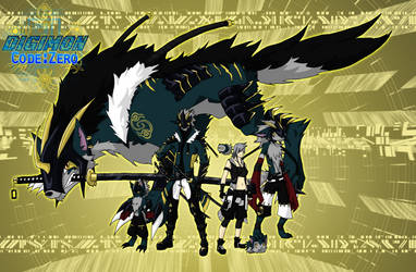Warriors of Loyalty - Yunomon and Shizora by ShadoDoragon
