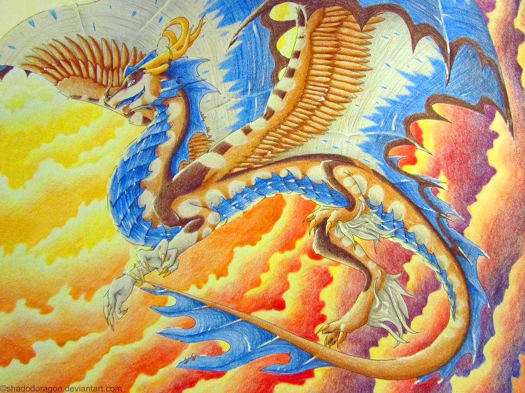 Burning sky by ShadoDoragon