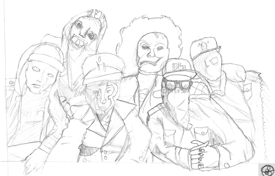 Deuce Hollywood Undead Drawing