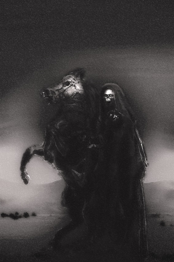 Baaltzelmoth on his mighty horse by Dizmah-56