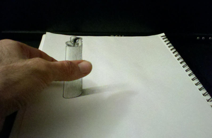 3D Lighter Drawing by Cool Lighter Drawings