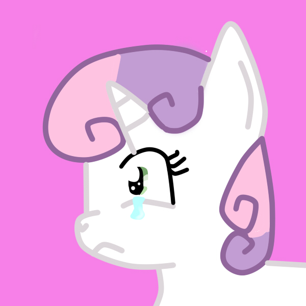 sweetie belle crying by CatTunaLover