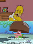 Patrick Sees Homer Choking