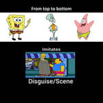 SpongeBob, Squidward, And Patrick Imitate This D