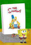 SpongeBob Paints The Simpsons Family