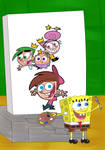 SpongeBob Painted The Fairly OddParents