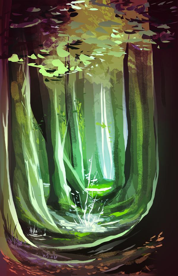 Forest Study by Zoroko