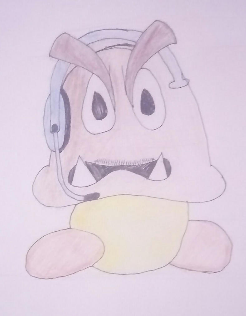 gaming goomba by Wyldboy