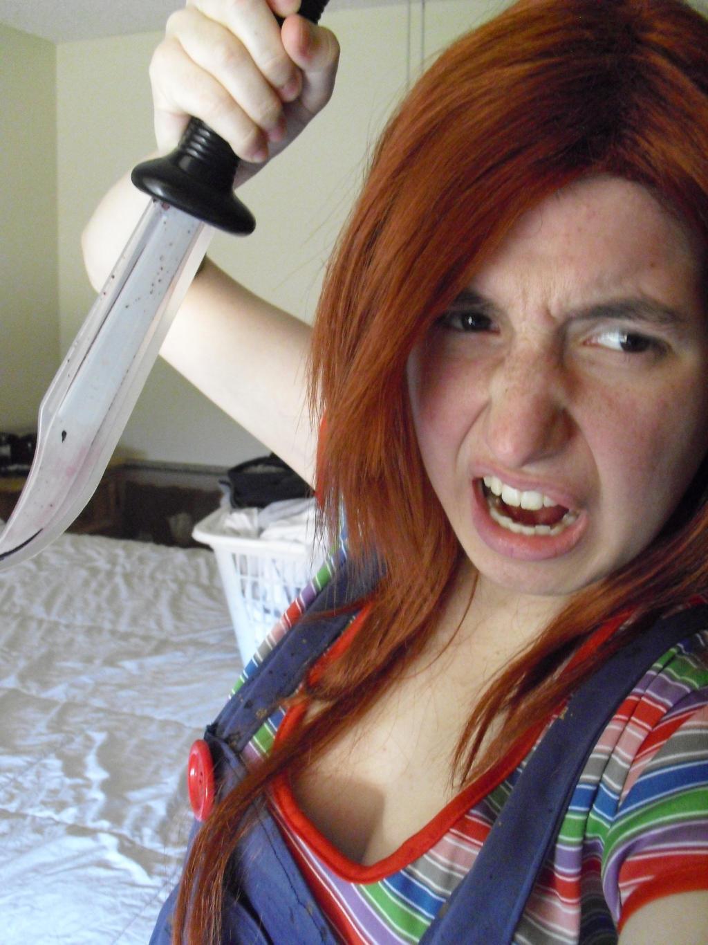 Angry Sexy Chucky By Sonicshadowlover13 On Deviantart