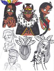 Aku Uka Brothers Human Doodles by SSL13