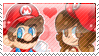 .:A new MarioxClo Stamp (Edited):. by CloTheMarioLover