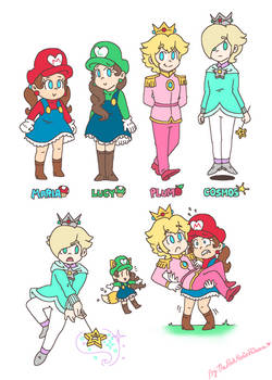 .:Some genderbend doodles thing:. by PeachyPinkPrincess
