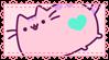 .~Pink Pusheen stamp~. by ThePinkMarioPrincess