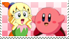 .:KirbyxTiff stamp (Commission):. by ThePinkMarioPrincess