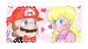 .~MarioxPeach stamp (Commission)~. by ThePinkMarioPrincess
