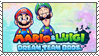 .~Mario and Luigi: Dream Team Stamp~. by ThePinkMarioPrincess
